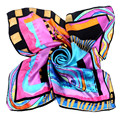 [LESIDA]90x90cm Big Squares Twill Silk Scarves Horse Printed Women Scarf Fashionable In The Autumn,Foulard Fabric Shawls/9052