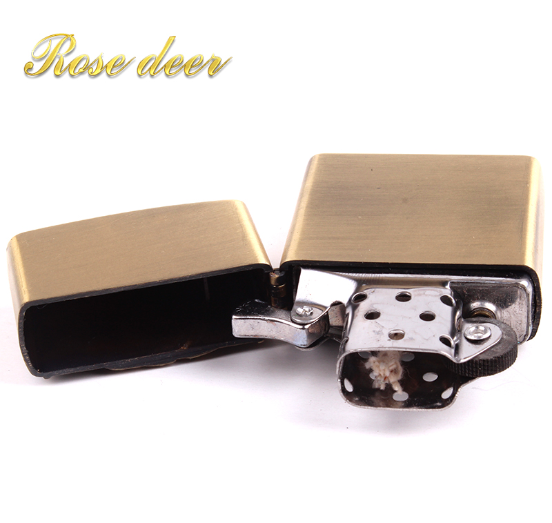 Metal attached present hell detective Clover kerosene lighter Windproof Smoking konstantine Vintage Style oil Lighter