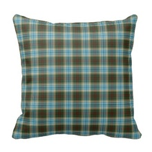 Ugly State Of Michigan Tartan Pillow Case (Size: 45x45cm) Free Shipping