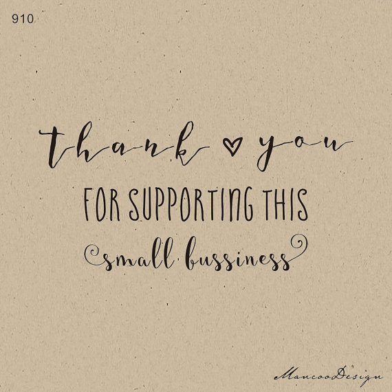 Thank You For Supporting This Small Business Stamp Custom Thank You