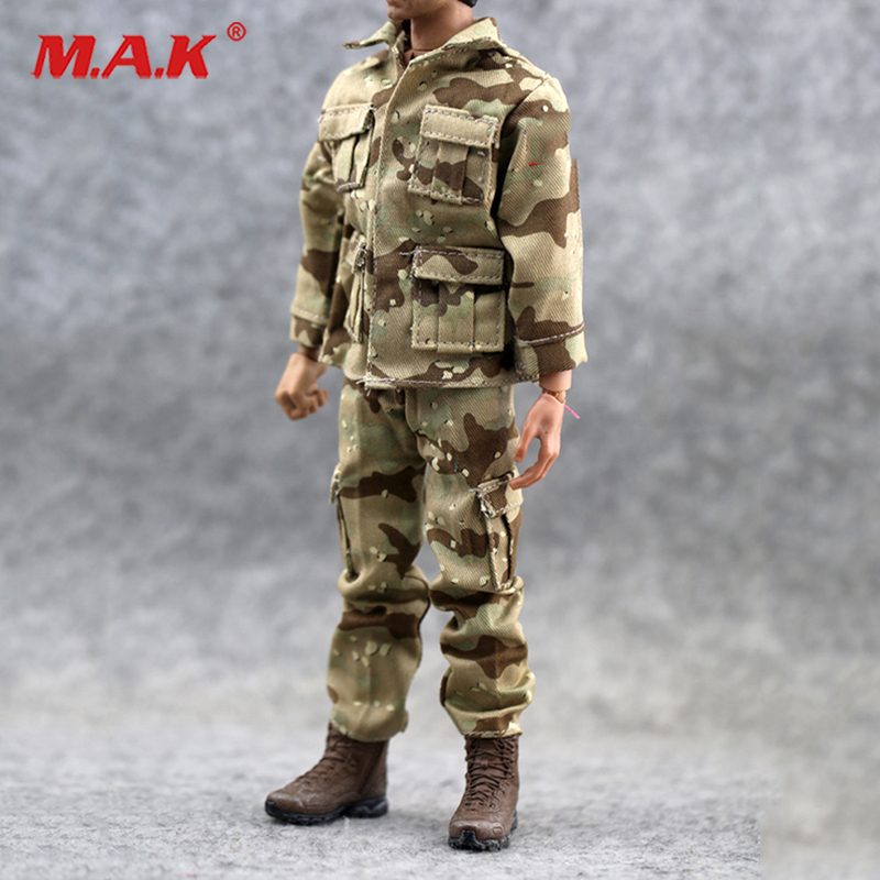 1:6 Scale Military Soldiers US Army Desert Saber Kuwait Camouflage Combat Uniforms Accessories Sand  Fit 12