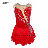 High end customized children, ladies, adult figure skating costumes, Skating Skirt multicolor velvet fabric, warm and breathable