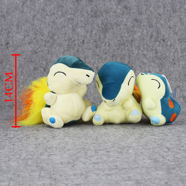Плюшевая аниме игрушка покемон Синдаквил