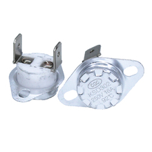 цена на 1pcs KSD302 16A 250V 40-130 degree Ceramic KSD301 Normally Closed Temperature Switch Thermostat 45 55 60 65 70 75 80 85