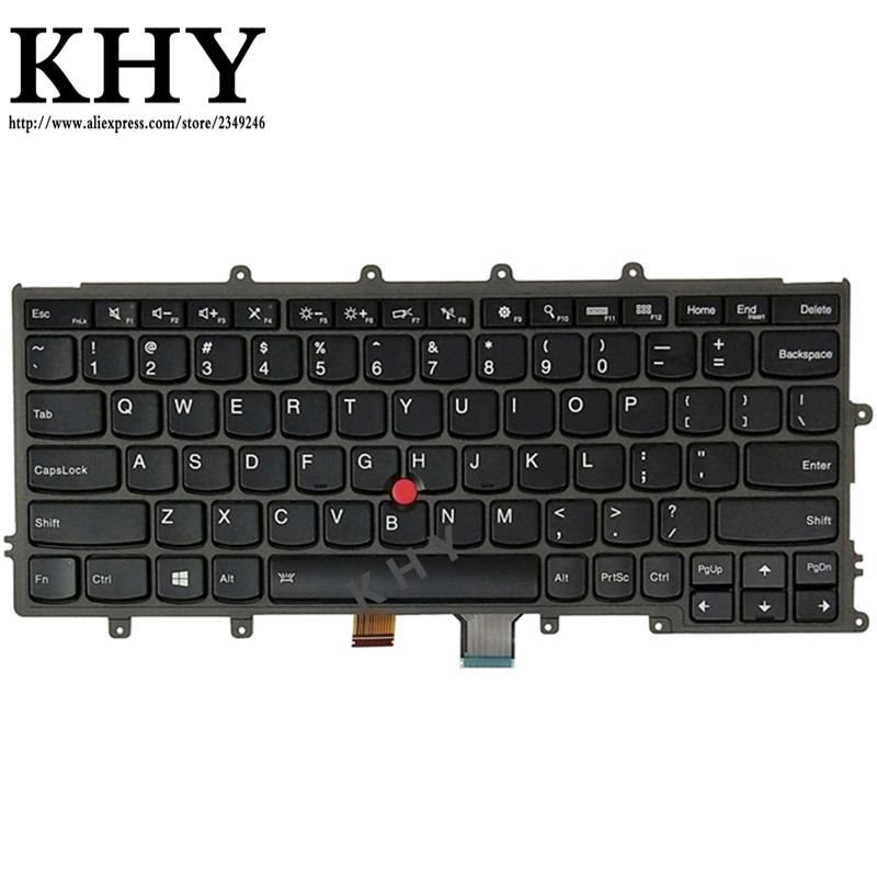 New Original US IND Backlit keyboard For ThinkPad A275 X230S X240 X250 X260 X270 04X0177 04X0213 04X0215 04X0251 01AV500 01AV540-in Replacement Keyboards from Computer & Office    1