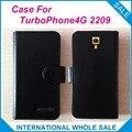 Caliente! 2016 TurboPhone4G 2209 caso, 6 colores de la alta calidad cuero Exclusive cubre para TurboPhone4G 2209 el número de seguimiento