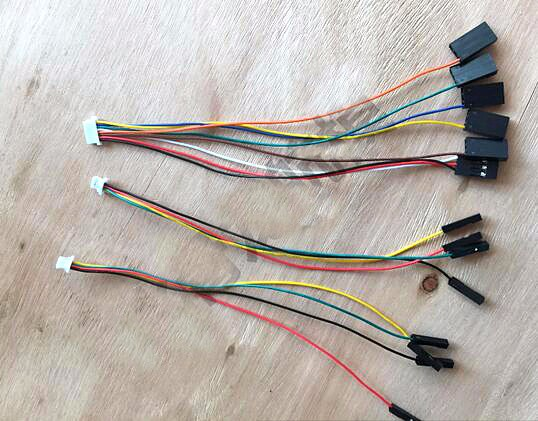 10set/lot CC3D flight control cable package of original accessories SH1.0, 4P and 8P line receiver GPS \ OSD