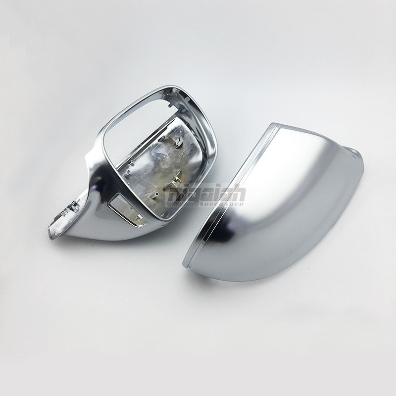 Q5 ABS Matt Chrome Car side Rearview Mirror Replacement Cover for Audi Q5 Q7 2009 up with Side Lane Assist
