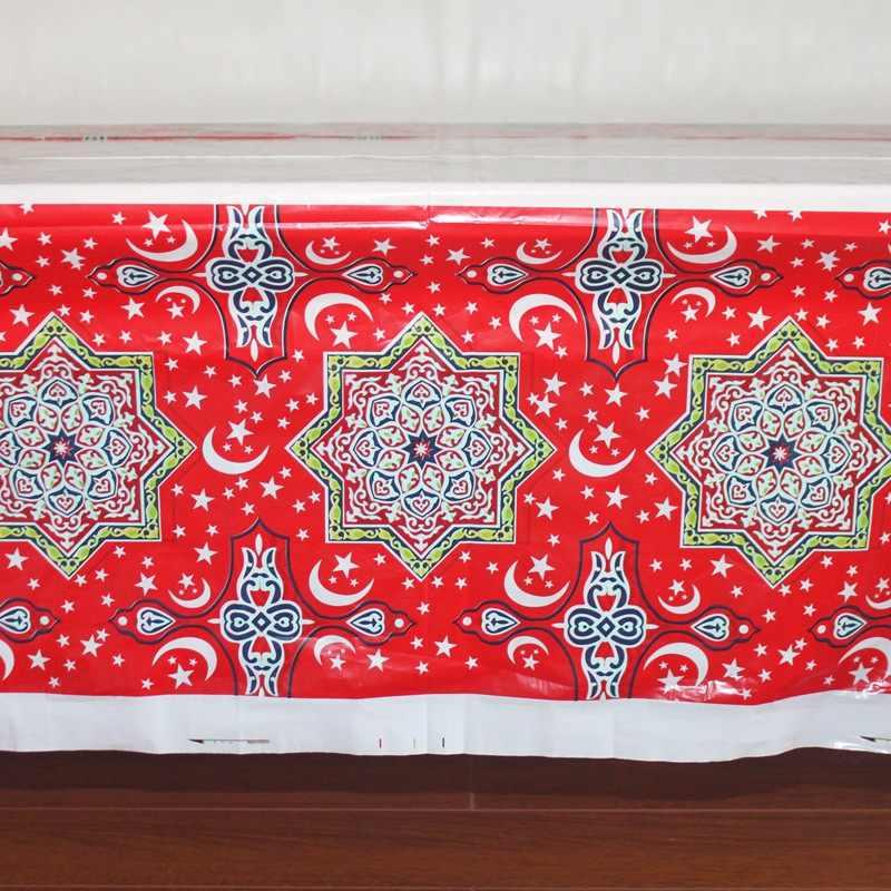 المتاح البلاستيك الجدول الملابس عيد آل Fitr رمضان غطاء الطاولة سماط للماء ل المسلمين الإسلامية الديكور 180*108 cm