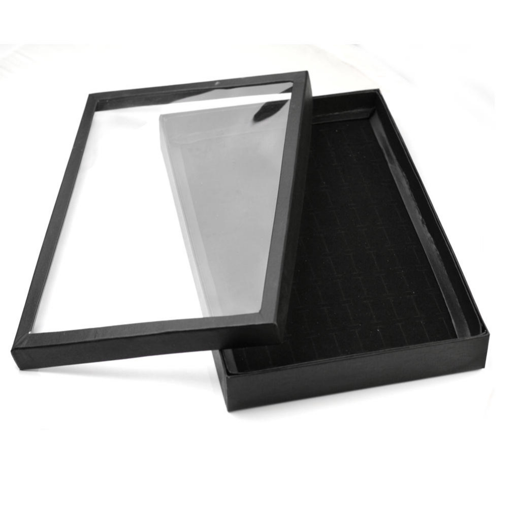 Fashion Black Soft Foam Mat Ring Stud Earrings Jewelry Display Storage Box Holder Jewelry Accessories Tool in Jewelry Packaging Display from Jewelry Accessories