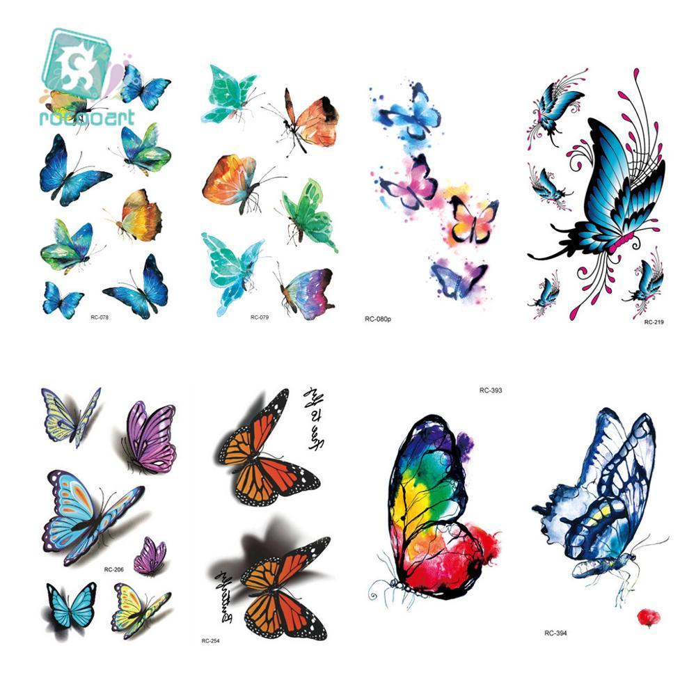 beb96e033 20 Different New 2017 Classic Pretty Butterfly Tattoo Waterfproof Fake  Temporary Tattoo Sticker Body Tattoo Small