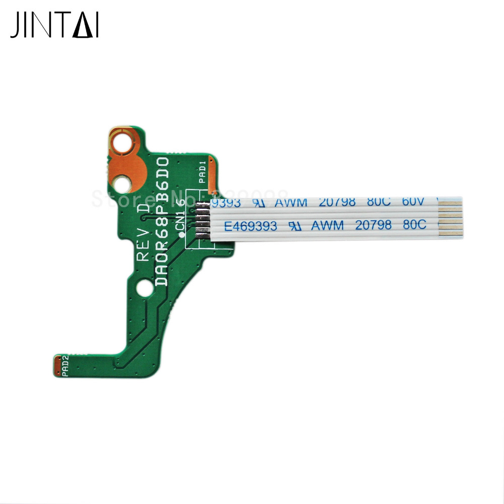 JINTAI  Power Button Board w/ Ribbon For HP Pavilion 17-e118dx 17-e118nr 17-e119nr 17-e079nr 17-e098nr 17-e106nr 17-e184ca new hot replacement power button board with ribbon for hp pavilion 15 n series