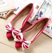 2016 new arrive Fashion woman flat Beef tendon soles slip on sapatos femininos shoes  Bowtie Ballet Women style flat size 34-43