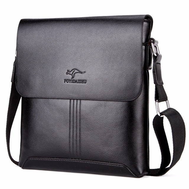 2017 Famous Brand kangaroo PU Leather Men Messenger Bags Solid Men Shoulder  Travel Bags Crossbody Men 401968ca375cf