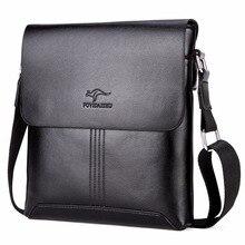 2019 Famous Brand kangaroo PU Leather Men Messenger Bags Solid Men Shoulder Travel Bags Crossbody Men Handbags Casual Briefcase