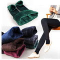 Women Winter Thick Warm Fleece Lined Thermal Stretchy Leggings Pants Trousers Female 2016 New