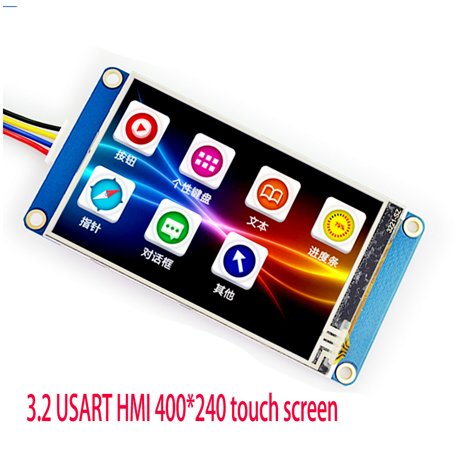 3.2 Inch USART HMI 400*240 Touch Screen With GPU Font Image Configuration Serial Port
