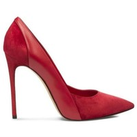 sapato feminino red black blue suede leather high quality ladies pumps pointed toe sexy high heels pumps chaussure femme talon