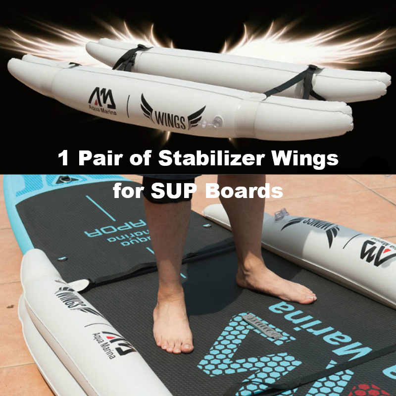 1 Pair SUP Stabilizer Wings Training Wheel Set Inflatable Air Wings For Stand Up Paddle Board Beginner B0302201