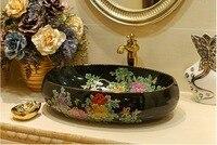 بالوعة الحمام السيراميك حوض غسيل مكافحة الأعلى الاغتسال غسل أحواض الخزف 5016