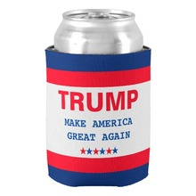 Popular Trump Make America Great Again 2016 Cooler New Hot Beer Can Cooler Holders Custom Party Decor Beverage & Drink Insulator