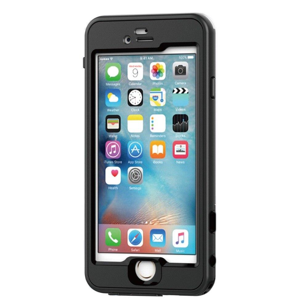 imágenes para 100% IP68 Impermeable Caso de La Piel Cubierta para el iphone 6 plus 6 s Plus Con Touch ID Y PIN de Carga/Acceso de Audio