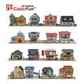 Cubicfun 3D Puzzle for kids House Paper Model World Architecture Educational Toys for Children over 6 years