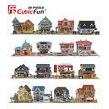 Mundo arquitetura modelo de papel cubicfun 3d puzzle para crianças casa brinquedos educativos para crianças acima de 6 anos
