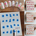 1x Nail Stickers 8 Designs for Choosing Flower Water Transfer on nails DIY Decals Nail Art Decorations For Beauty Polish NC161