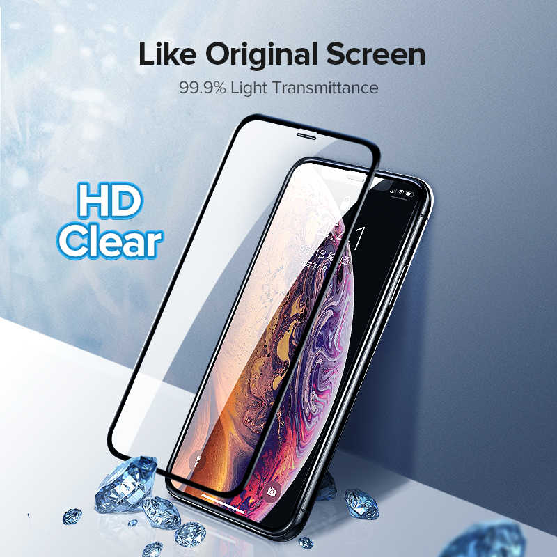 Ugreen עבור iPhone 7 זכוכית על iPhone 7 6 6 s 8 8 בתוספת X XS Max XR 3D הידרוג 'ל מלא מסך מגן מגן זכוכית על iPhone 7