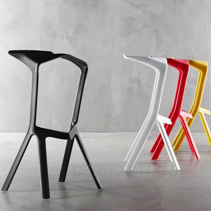 Popular Modern Design Plastic Stackable Miura Bar Stool Bar Chair Cafe  Chair Drinking Stool Popular Kitchen