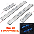 4PCS LED Door Sill Guards Stainless Steel Scuff Plate LED Moving Welcome Pedal For Chevrolet Chevy Malibu 2012 2013 2014