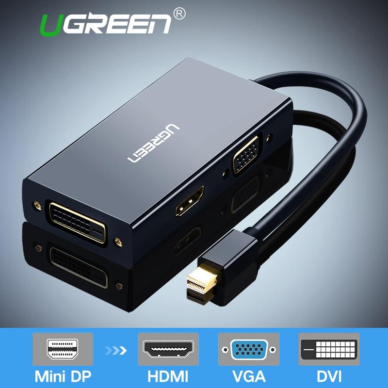 Ugreen Mini DisplayPort a HDMI VGA DVI adaptador Thunderbolt 2 convertidor de HDMI Mini DP Cable para Pro superficie 4 Mini displayPort