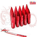 KYLIN STORE - RYANSTAR Red wheel racing lug nuts + 20pcs Spear Tip + Stickers Length 60MM M12x1.5  Red/Purple/Golden