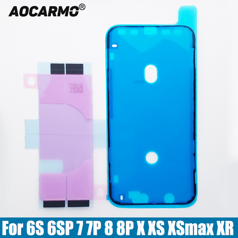 Aocarmo LCD Display Screen Waterproof Adhesive Battery Sticker Glue Tape For iPhone 6S 6SP 7 7P 8 8P Plus X XS XSmax Max XR(China)