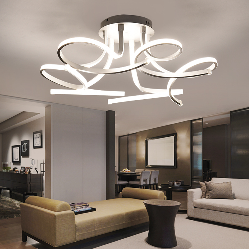 New Design Acrylic lotus Led Ceiling Lights For Living Study Room Bedroom lampe plafond avize Indoor Ceiling Lamp Free Shipping