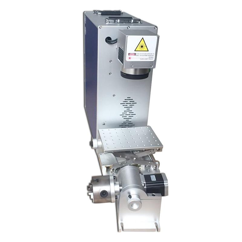 Купить с кэшбэком Free Shipping Laser Marking Machine 20W Fiber Optical  4th Rotary Metal Engraving Working Area Option 100x100|200x200mm