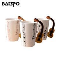 Creative Tasse de Musique Nouveauté Guitare En Céramique Tasse de Lait Jus De Citron Tasse De Personnalité Café Thé Home Office Verres Cadeau tasse d'eau