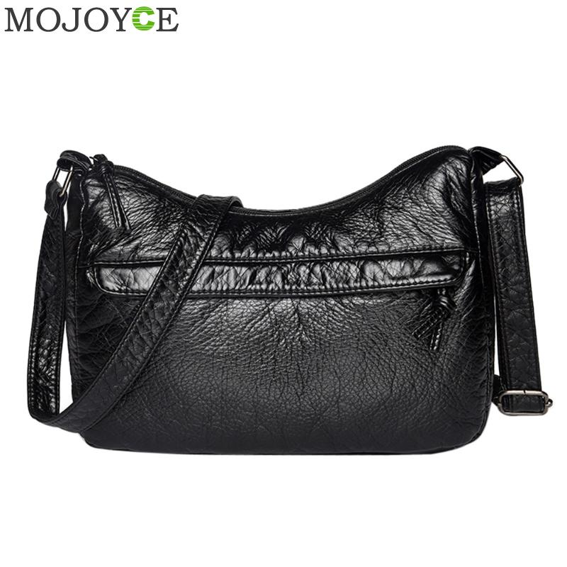 Vintage Women Small Messenger Bags Soft PU Leather Handbags Fashion Female Hobos Handbags Shoulder Crossbody Bags for Women 2018