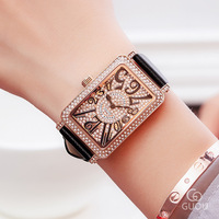 Fashion Watch Top Brand Women Leather Watch Rectangular Dial Independent Female Casual Watches Ladies Gifts Quartz WristWatch