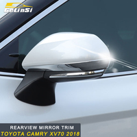 GELINSI Rear View Mirror Cover Trim Car Styling Accessories For Toyota Camry XV70 2018