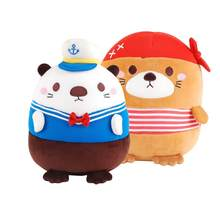Cute Pirate Otter Children's Plush Toy Gift 20cm(China)