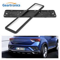1 set European UK EU German Russian License Plate Holder Frame stainless steel Black Number License Plate Bracket Frame Holder