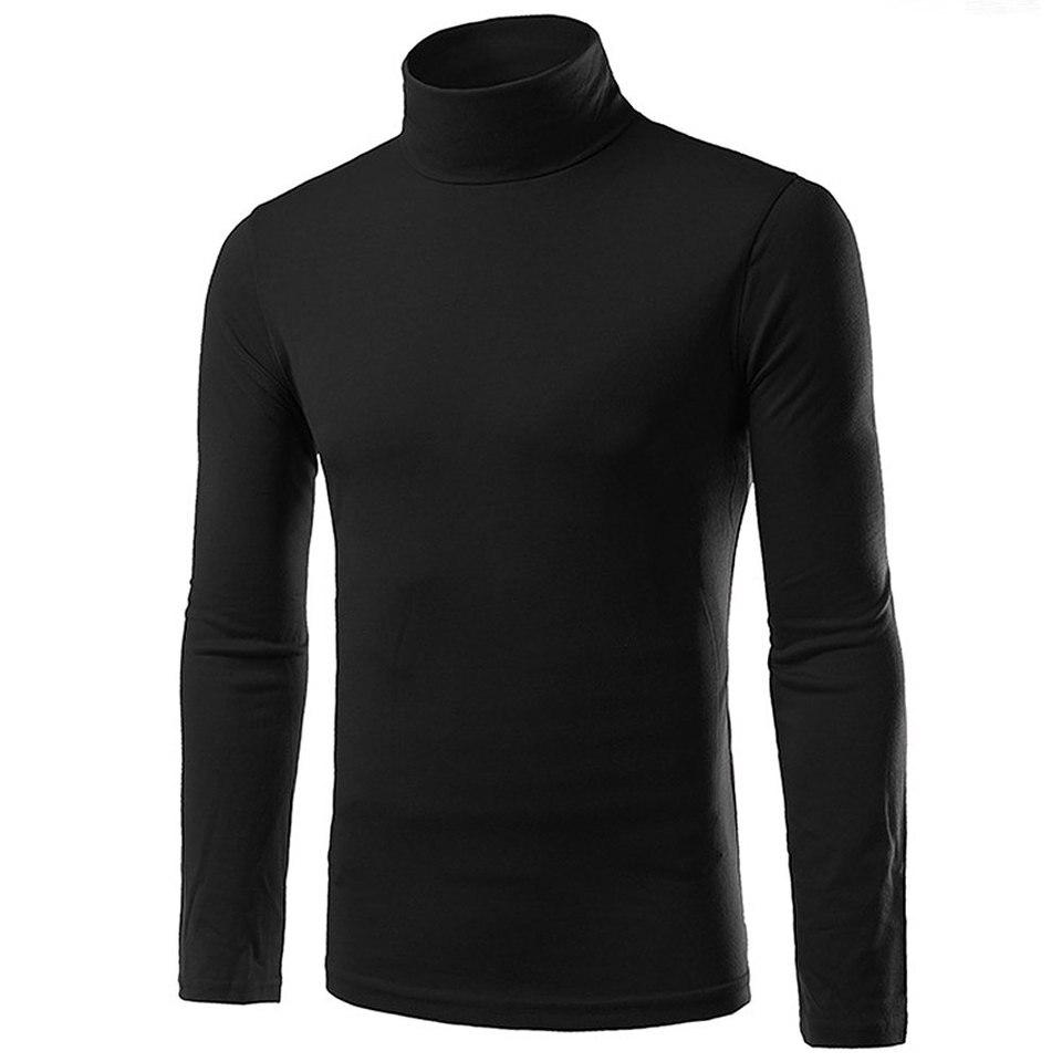 UK VELVET MEN ROLL NECK LONG SLEEVE COTTON TOP HIGH /& TURTLE NECK BASIC T SHIRTS