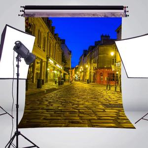 Image 3 - 5x7ft Golden Paris Street Photography Background Backdrop Photo Studio Props Wall Photography Backdrop