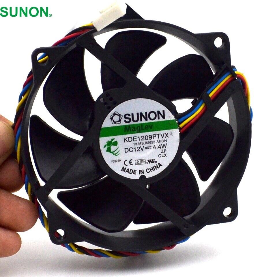 все цены на  SUNON Maglev Round CPU Case Cooling Fan KDE1209PTVX 4.4W 4 Pin DC 12V Tested  2pcs/lot  онлайн
