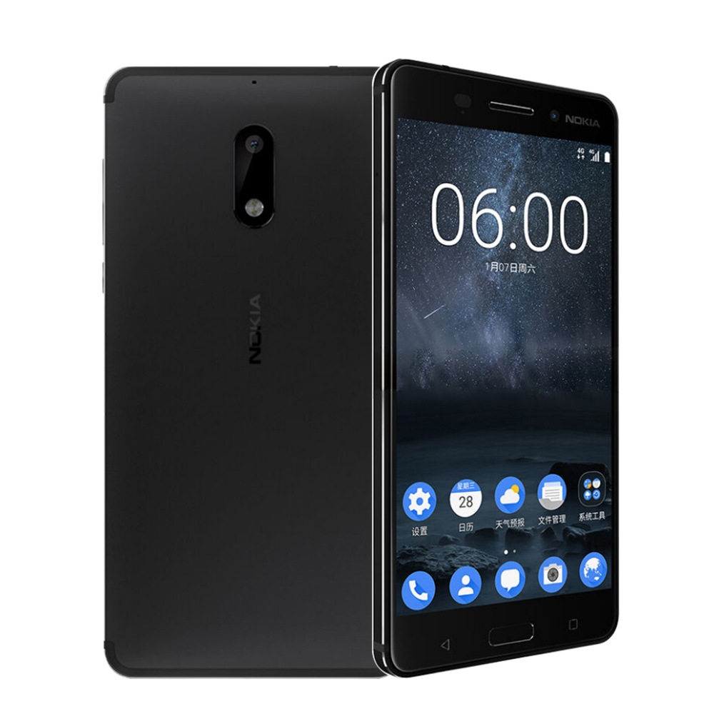 Image 2 - 2017 Unlocked Nokia 6 LTE 4G Mobile Phone Android 7 Qualcomm Octa Core 5.5'' Fingerprint 4G RAM 64G ROM 3000mAh 16MP Nokia6-in Cellphones from Cellphones & Telecommunications