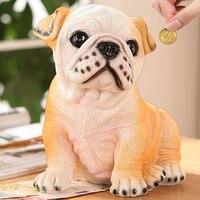 Creative Bulldog Piggy Bank Simulation Dog Piggy Bank Cute Coin Cans Cartoon Change Money Storage Cans Children Gift