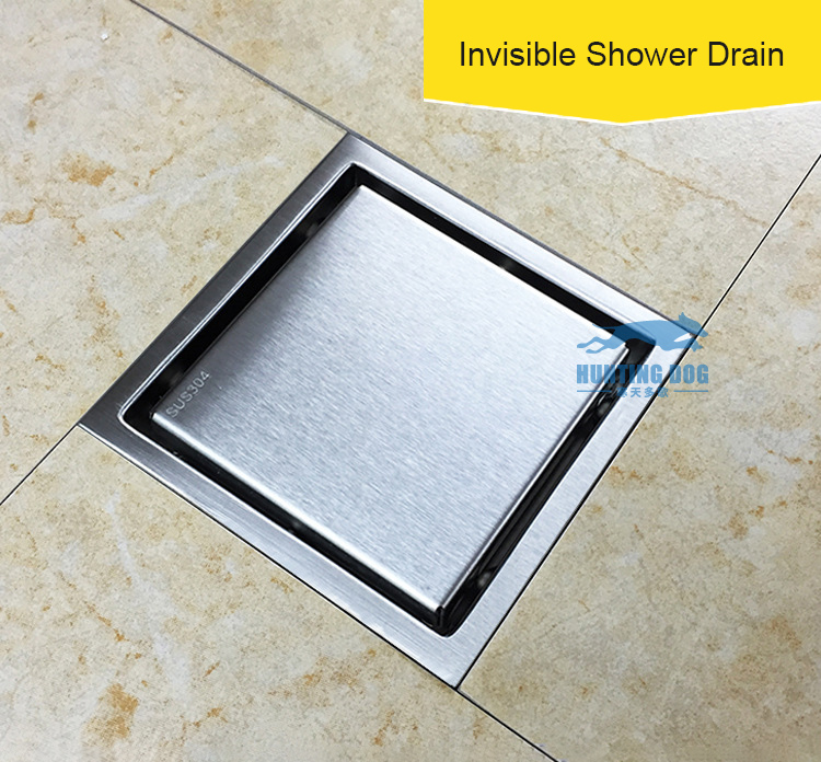 150x150 Square Drain Bathroom Bath Shower Cover Filter Trap Hair Polishing Drainer Floor Grate Kitchen Steel Waste Kit Deodorant In Drains From