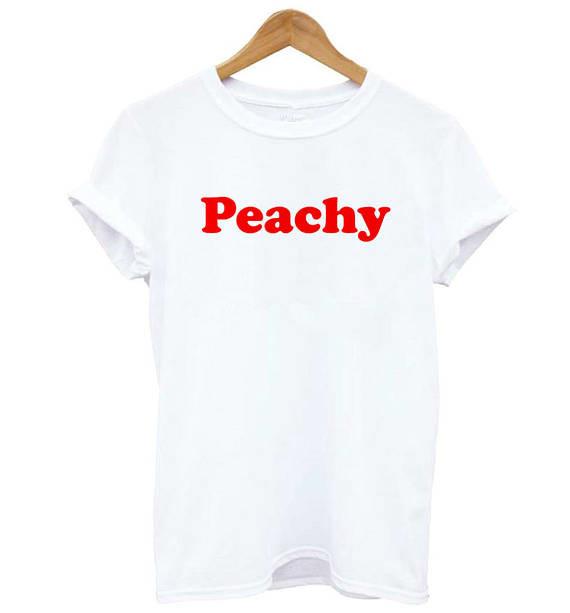 1fa4f19dee1e Tumblr Peachy vermelho Letras Imprimir T shirt moda roupas de ...
